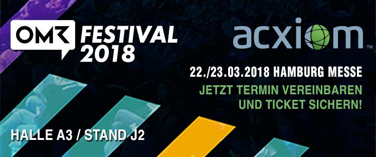Besuchen Sie uns auf dem OMR Festival 2018
